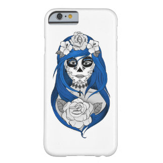 Hulls Boxes Santa Muerte blue Barely There iPhone 6 Case