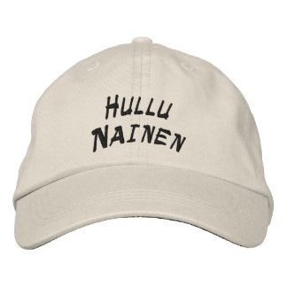 Hullu  Nainen - Crazy Woman Embroidered Baseball Cap