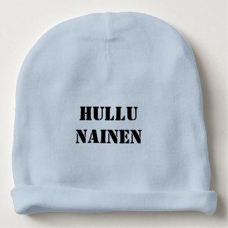 Hullu  Nainen - Crazy Woman in Finnish Baby Beanie