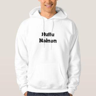 Hullu  Nainen - Crazy Woman in Finnish Hoodies