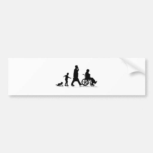 Human Aging_2 Bumper Sticker