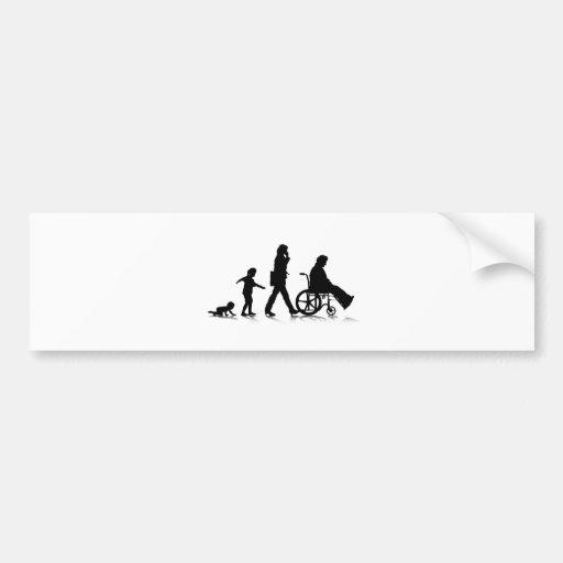 Human Aging_4 Bumper Sticker