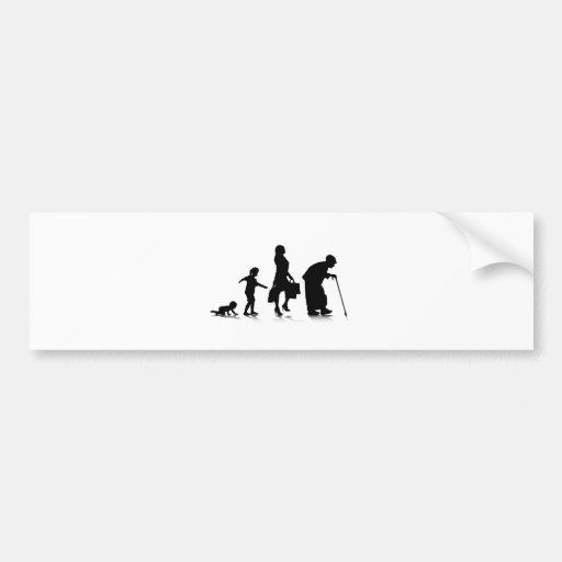 Human Aging_5 Bumper Sticker