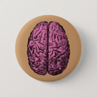 Human Anatomy Brain 6 Cm Round Badge