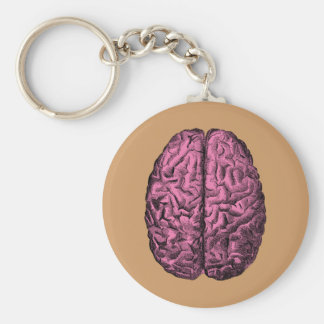 Human Anatomy Brain Key Ring