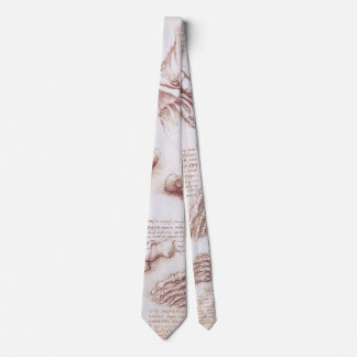 Human Anatomy Skeleton Foot Bones by da Vinci Tie