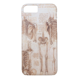 Human Anatomy Skeletons by Leonardo da Vinci iPhone 8/7 Case