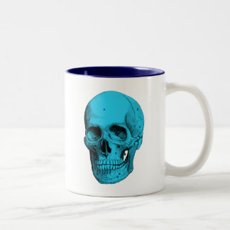Human Anatomy Skull Two-Tone Coffee Mug