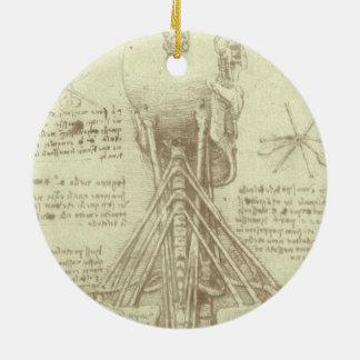 Human Anatomy Spinal Column by Leonardo da Vinci Christmas Ornament