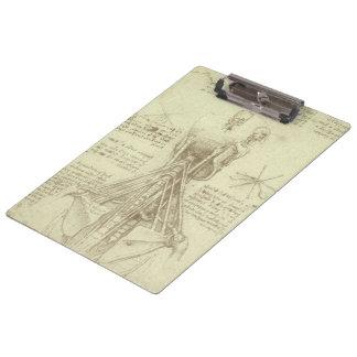 Human Anatomy Spinal Column by Leonardo da Vinci Clipboard
