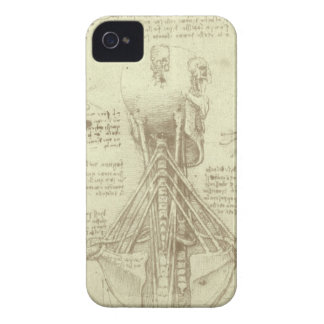 Human Anatomy Spinal Column by Leonardo da Vinci iPhone 4 Cases