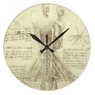 Human Anatomy Spinal Column by Leonardo da Vinci Large Clock