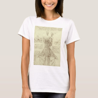 Human Anatomy Spinal Column by Leonardo da Vinci T-Shirt