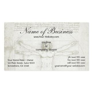 Human Anatomy, Vitruvian Man by Leonardo da Vinci Pack Of Standard Business Cards
