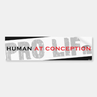 Human At Conception Bumper Sticker