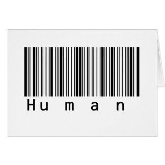 Human Barcode Really Scans! Greeting Card