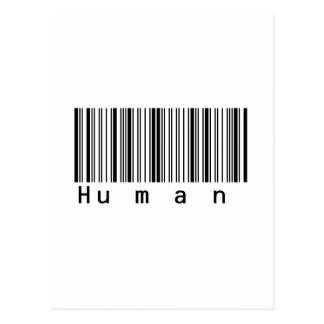 Human Barcode Really Scans! Postcard