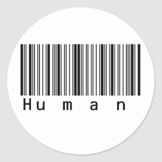 Human Barcode Really Scans! Round Sticker