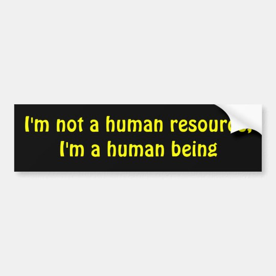 Human being bumper sticker
