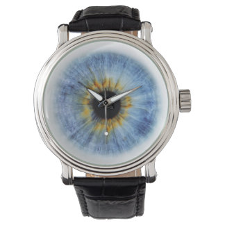 Human blue eyeball, iWatch Wristwatch