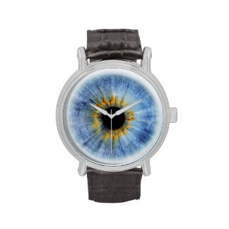 Human blue eyeball, iWatch Wristwatches