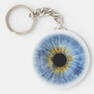 Human blue eyeball key chains