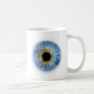 Human blue eyeball mugs