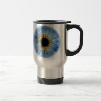 Human blue eyeball mug