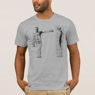 Human Blueprint gray semi fitted mens tshirt