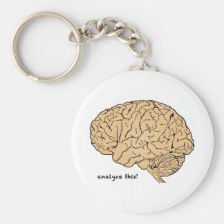 Human Brain: Analyze This! Basic Round Button Key Ring