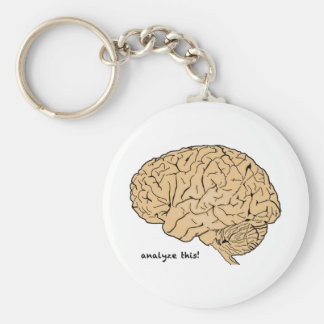 Human Brain: Analyze This! Key Ring