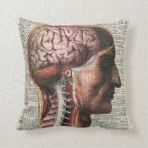 Human Brain Anatomy Cushion