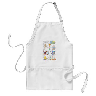 Human Brain and Central Nervous System Diagram Standard Apron