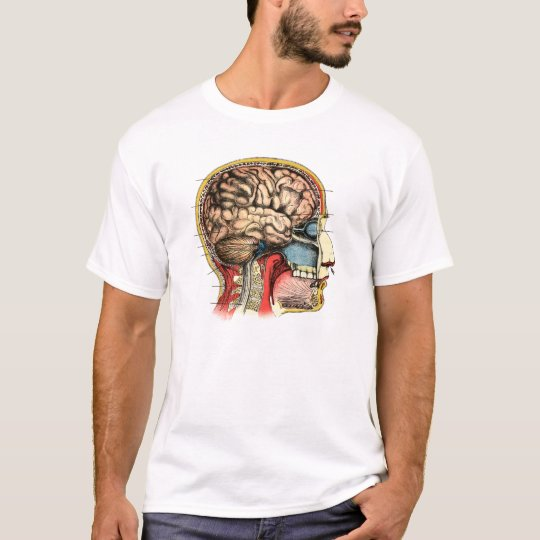 Human Brain Skull Cervical Spine T-Shirt