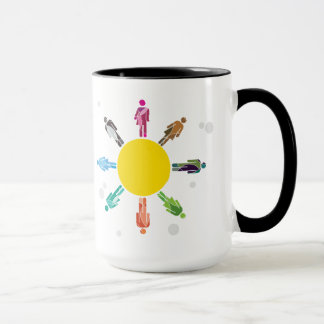 Human diversity mug