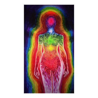 Human energetic field poster