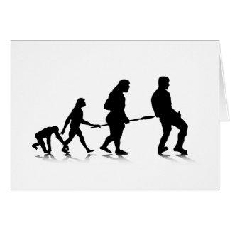 Human Evolution_4 Greeting Card