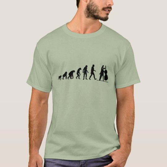 Human Evolution: Bass Player T-Shirt