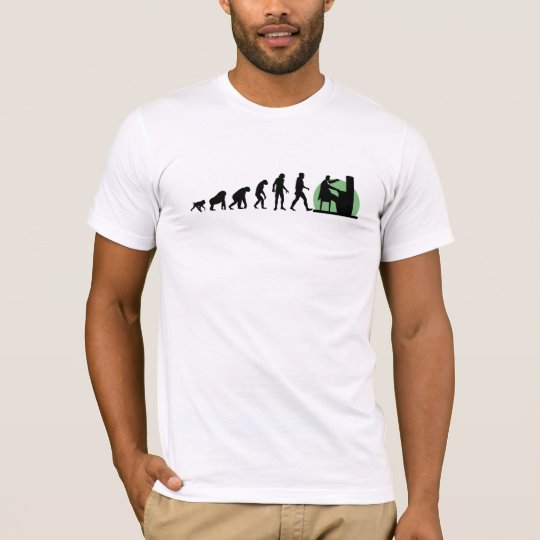 Human Evolution: Pianist T-Shirt