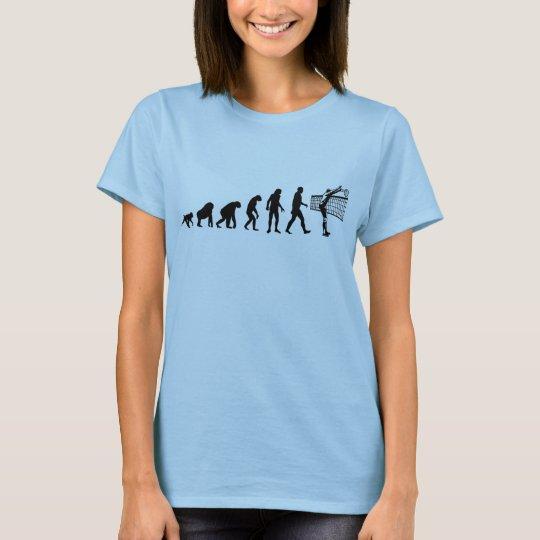 Human Evolution: Volleyball Player T-Shirt