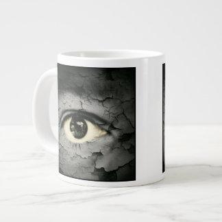 Human eye serrounded by Peeling skin Jumbo Mug