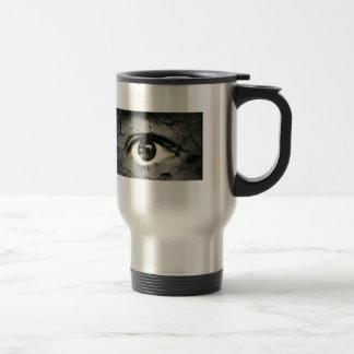 Human eye serrounded by Peeling skin Mugs
