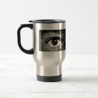 Human eye serrounded by Peeling skin Stainless Steel Travel Mug