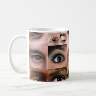 Human Eyes Montage Basic White Mug