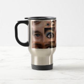 Human Eyes Montage Stainless Steel Travel Mug