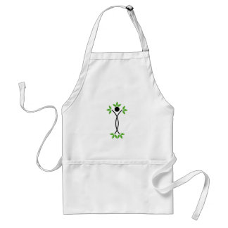 Human figure with green leaves standard apron