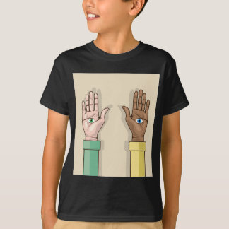 Human hands with eyes Vector T-shirts
