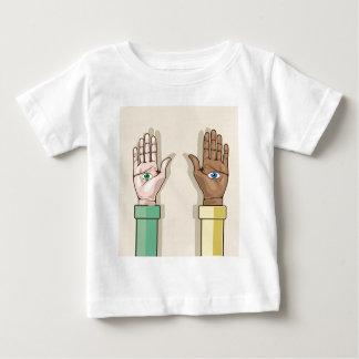Human hands with eyes Vector Tee Shirts