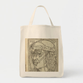 Human Head Grocery Tote Bag