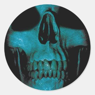 Human Head Horror Fun Classic Round Sticker
